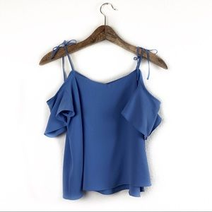 Topshop Off the Shoulder Periwinkle Top Size US 6